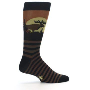 Image of Brown Moose Men's Dress Socks (side-1-23)