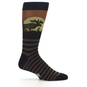 Image of Brown Moose Men's Dress Socks (side-1-24)