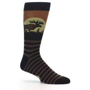 Image of Brown Moose Men's Dress Socks (side-1-25)