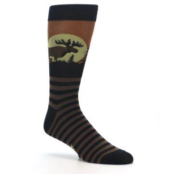 Image of Brown Moose Men's Dress Socks (side-1-26)