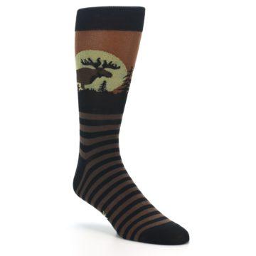 Image of Brown Moose Men's Dress Socks (side-1-27)