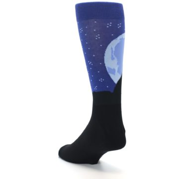 Image of Wolf Howl at the Moon Men's Dress Socks (side-2-back-15)