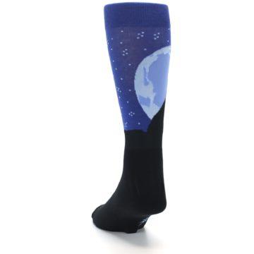 Image of Wolf Howl at the Moon Men's Dress Socks (side-2-back-16)