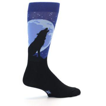 Image of Wolf Howl at the Moon Men's Dress Socks (side-1-23)