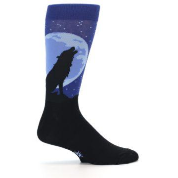 Image of Wolf Howl at the Moon Men's Dress Socks (side-1-24)