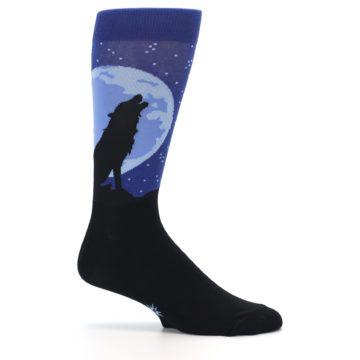 Image of Wolf Howl at the Moon Men's Dress Socks (side-1-25)