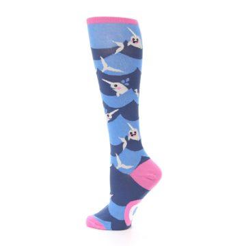 Image of Blue Narwhal Women's Knee High Socks (side-2-13)