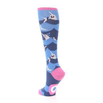 Image of Blue Narwhal Women's Knee High Socks (side-2-back-15)