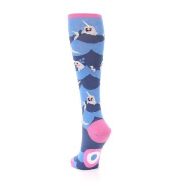 Image of Blue Narwhal Women's Knee High Socks (side-2-back-16)