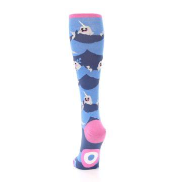 Image of Blue Narwhal Women's Knee High Socks (back-17)