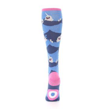 Image of Blue Narwhal Women's Knee High Socks (back-18)