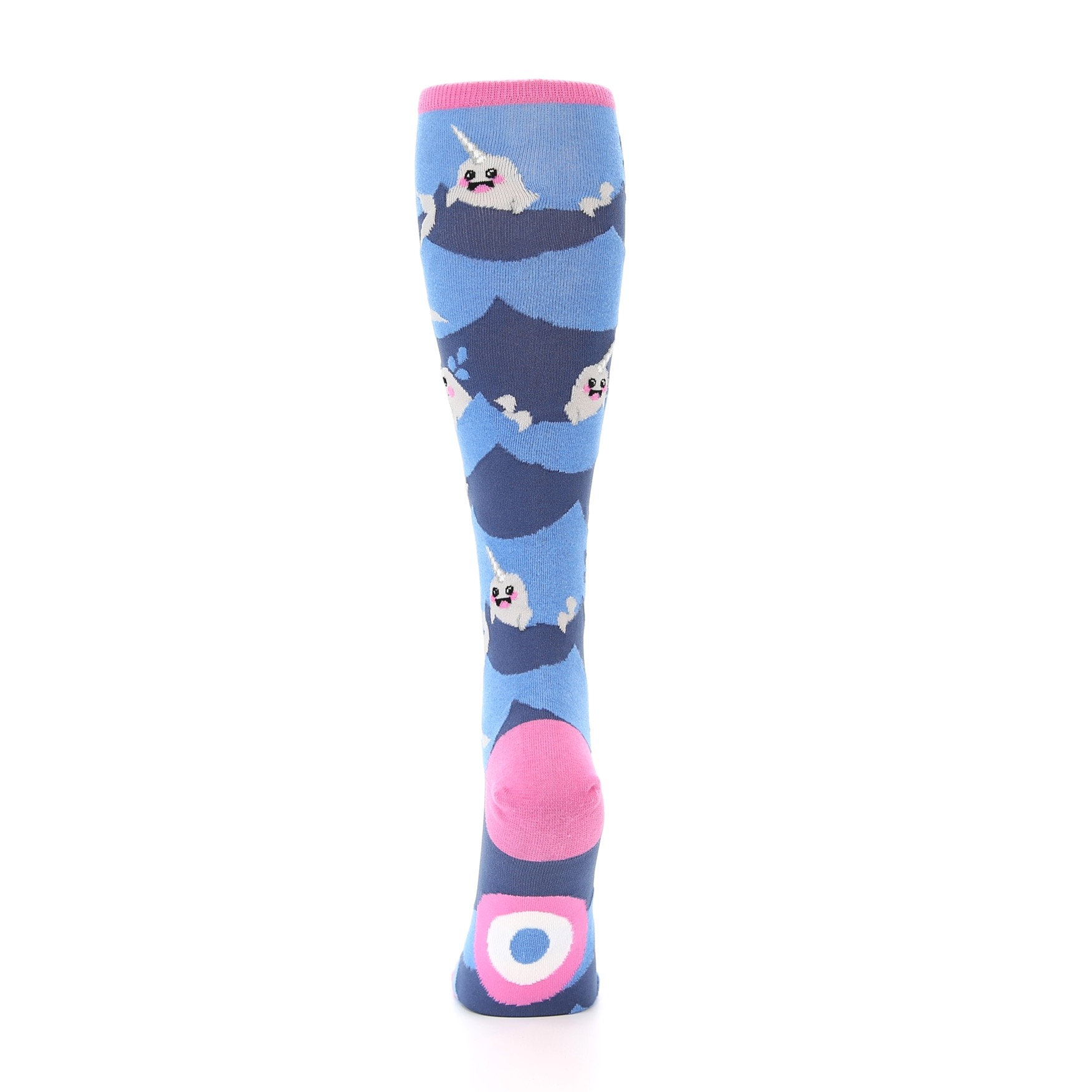 809895de61959 Image of Blue Narwhal Women's Knee High Socks (back-18)