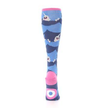 Image of Blue Narwhal Women's Knee High Socks (back-19)