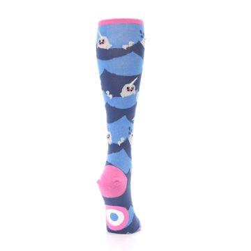 Image of Blue Narwhal Women's Knee High Socks (side-1-back-20)