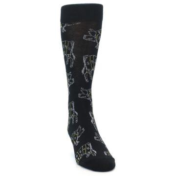 Image of Black White Meat Eater Men's Dress Socks (side-1-front-03)