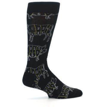 Image of Black White Meat Eater Men's Dress Socks (side-1-24)