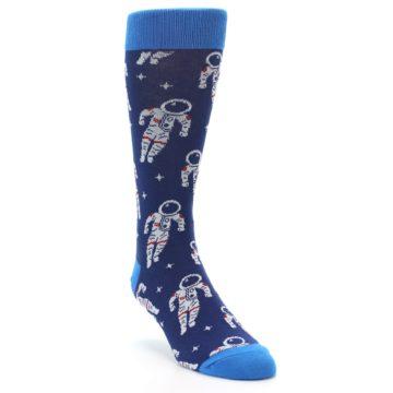 Image of Blue Astronaut Men's Dress Socks (side-1-front-02)