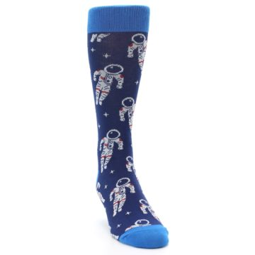 Image of Blue Astronaut Men's Dress Socks (side-1-front-03)
