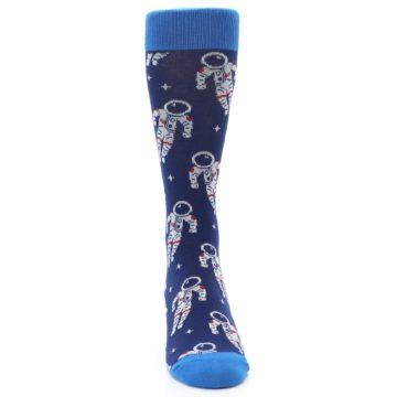 Image of Blue Astronaut Men's Dress Socks (front-04)