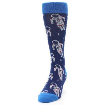 Image of Blue Astronaut Men's Dress Socks (side-2-front-06)