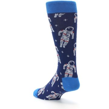 Image of Blue Astronaut Men's Dress Socks (side-2-back-15)