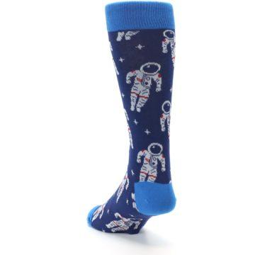 Image of Blue Astronaut Men's Dress Socks (side-2-back-16)