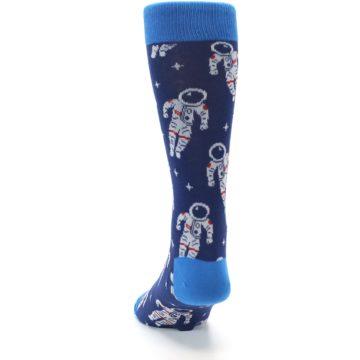 Image of Blue Astronaut Men's Dress Socks (back-17)