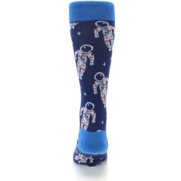 Image of Blue Astronaut Men's Dress Socks (back-18)