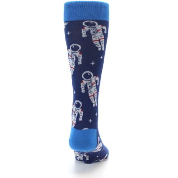 Image of Blue Astronaut Men's Dress Socks (back-19)
