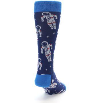 Image of Blue Astronaut Men's Dress Socks (side-1-back-20)
