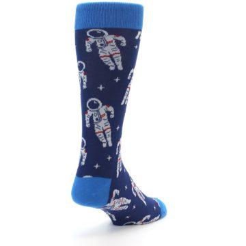 Image of Blue Astronaut Men's Dress Socks (side-1-back-21)
