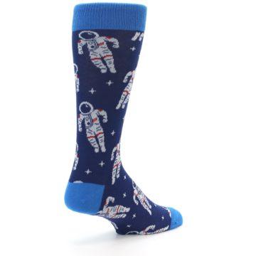 Image of Blue Astronaut Men's Dress Socks (side-1-back-22)