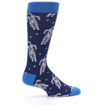 Image of Blue Astronaut Men's Dress Socks (side-1-24)