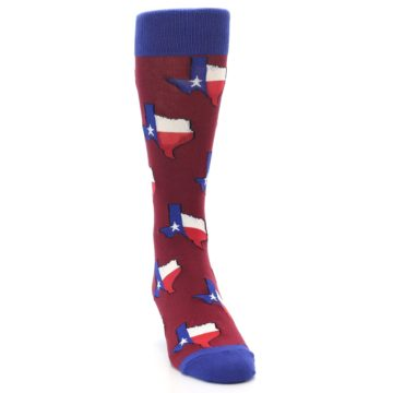 Image of Red Blue Texas State Men's Dress Socks (side-1-front-03)