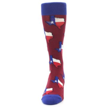 Image of Red Blue Texas State Men's Dress Socks (front-05)
