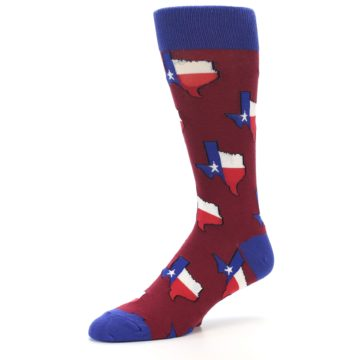Image of Red Blue Texas State Men's Dress Socks (side-2-09)