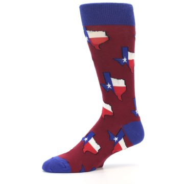 Image of Red Blue Texas State Men's Dress Socks (side-2-10)