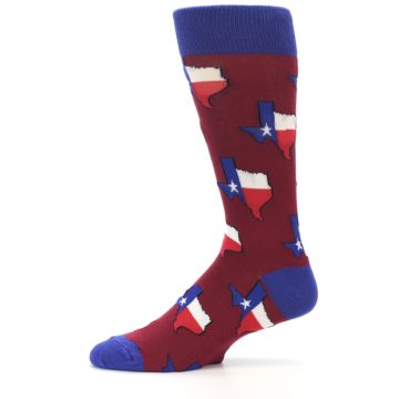 Image of Red Blue Texas State Men's Dress Socks (side-2-11)
