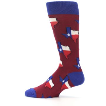 Image of Red Blue Texas State Men's Dress Socks (side-2-12)