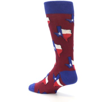 Image of Red Blue Texas State Men's Dress Socks (side-2-back-14)