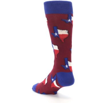 Image of Red Blue Texas State Men's Dress Socks (side-2-back-15)