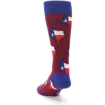 Image of Red Blue Texas State Men's Dress Socks (side-2-back-16)