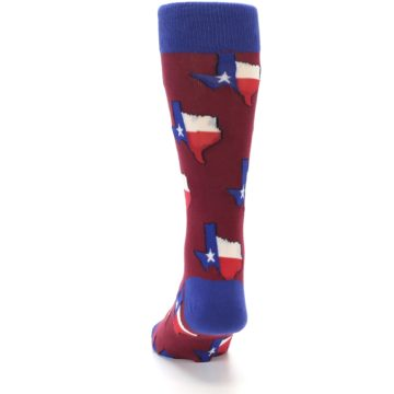 Image of Red Blue Texas State Men's Dress Socks (back-17)