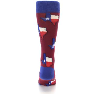 Image of Red Blue Texas State Men's Dress Socks (back-18)