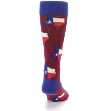 Image of Red Blue Texas State Men's Dress Socks (back-19)