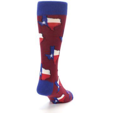 Image of Red Blue Texas State Men's Dress Socks (side-1-back-20)