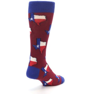 Image of Red Blue Texas State Men's Dress Socks (side-1-back-21)