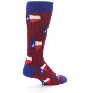 Image of Red Blue Texas State Men's Dress Socks (side-1-back-22)