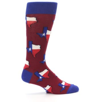 Image of Red Blue Texas State Men's Dress Socks (side-1-24)
