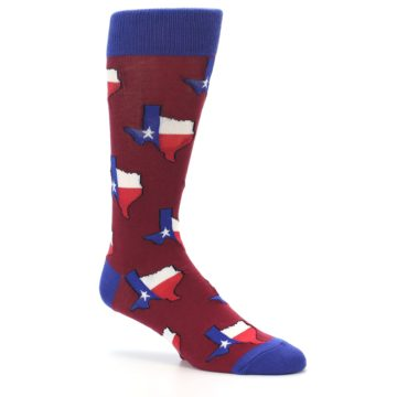 Image of Red Blue Texas State Men's Dress Socks (side-1-26)